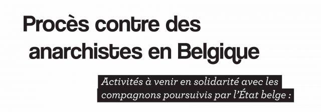 Bruxelles, Belgique : Activités à la bibliothèque Acrata en solidarité avec les compagnons poursuivis par l'Etat belge – Du 24 mars au 8 avril 2019